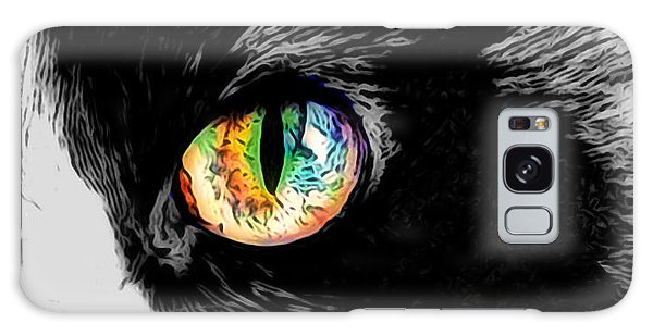 Calico Cat With A Splash Galaxy Case