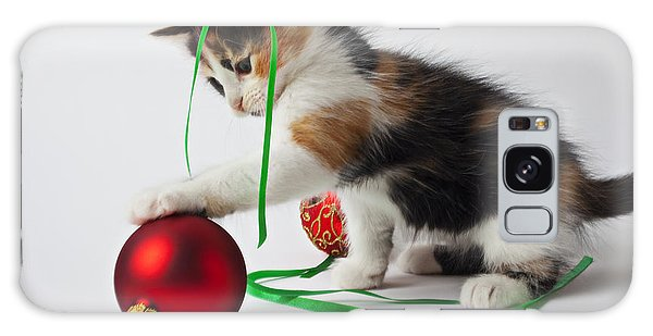 Calico Kitten And Christmas Ornaments Galaxy Case