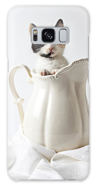 Calico Kitten In White Pitcher Galaxy Case