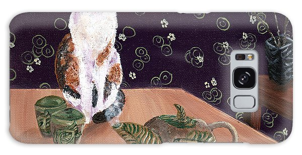 Calico Cat Galaxy Case - Calico Tea Meditation by Laura Iverson