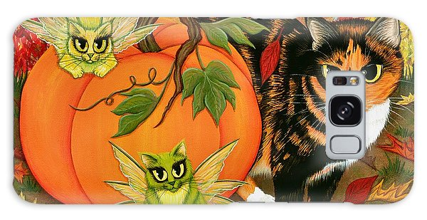 Calico's Mystical Pumpkin Galaxy Case