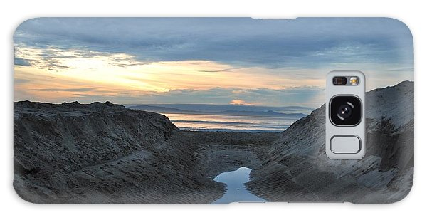 California Beach Stream At Sunset - Alt View Galaxy Case