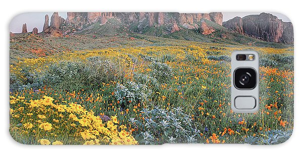 Galaxy Case featuring the photograph California Brittlebush Lost Dutchman by Tim Fitzharris