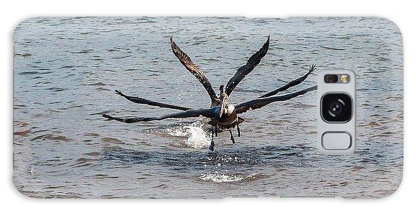 California Brown Pelicans Flying In Tandem Galaxy Case