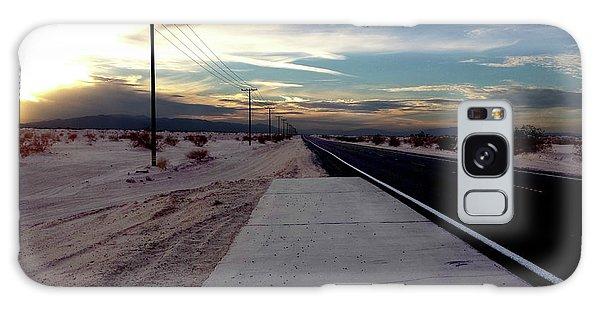 California Desert Highway Galaxy Case