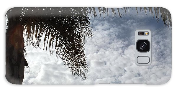 California Palm Tree Half View Galaxy Case