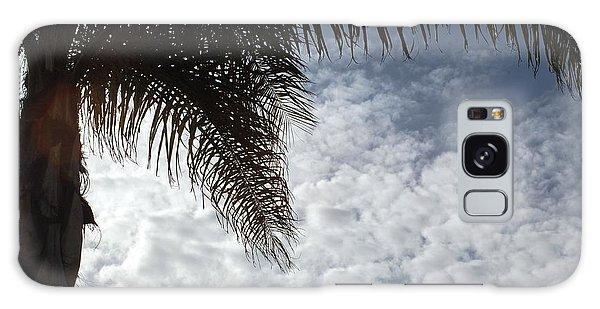 California Palm Tree Half View Galaxy Case