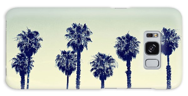 Tree Galaxy Case - California Palm Trees by Anna Floridia