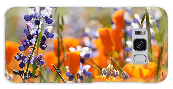 California Poppies And Lupine Galaxy Case