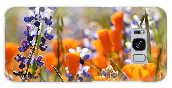 California Poppies And Lupine Galaxy Case by Kyle Hanson