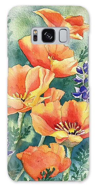 California Poppies In Bloom Galaxy Case