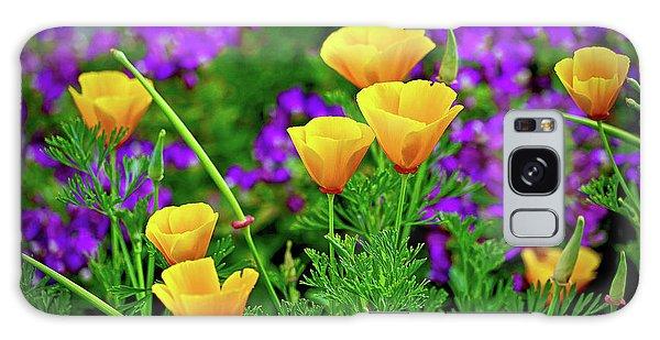 California Poppies Galaxy Case by Michael Cinnamond