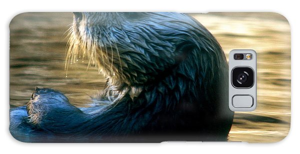 California Sea Otter Galaxy Case by Jan Cipolla