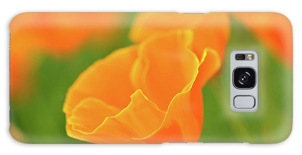 California Spring Poppy Macro Close Up Galaxy Case