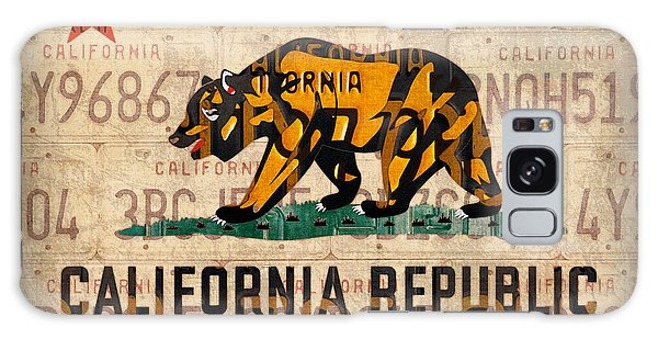 Recycle Galaxy Case - California State Flag Recycled Vintage License Plate Art by Design Turnpike
