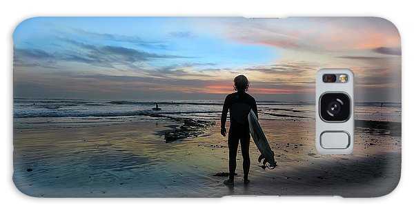 Ocean Sunset Galaxy S8 Case - California Surfer by Larry Marshall