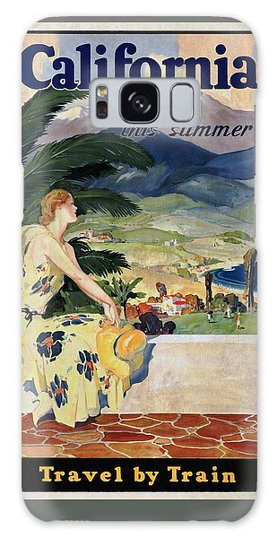 California This Summer - Travel By Train - Vintage Poster Vintagelized Galaxy Case