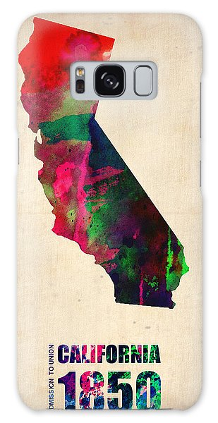 City Map Galaxy Case - California Watercolor Map by Naxart Studio