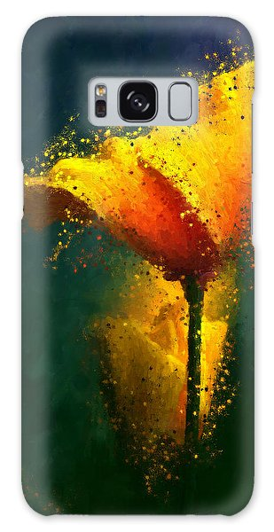 Californian Poppy Galaxy Case