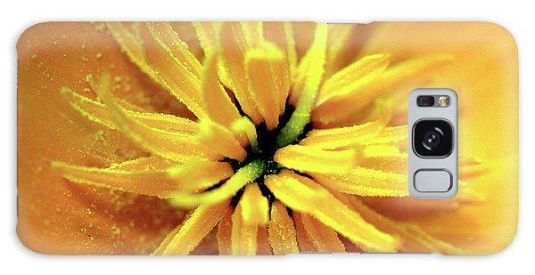 Californian Poppy Macro Galaxy Case