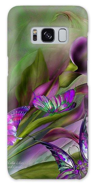 Calla Lilies Galaxy Case by Carol Cavalaris