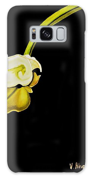 Calla Lily Reflection Galaxy Case