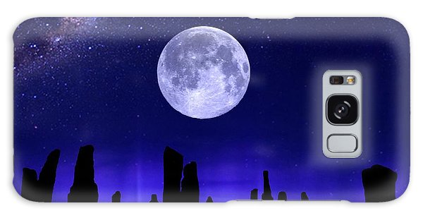 Callanish Stones Under The Supermoon.  Galaxy Case
