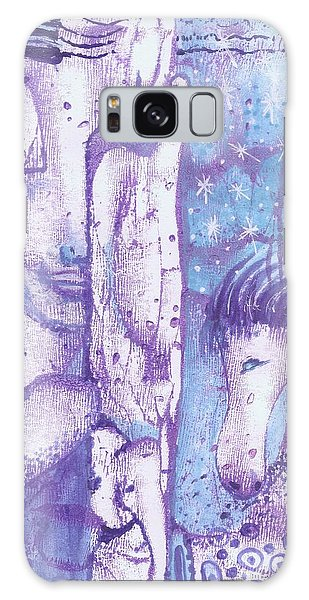 Galaxy Case featuring the mixed media Calling Upon Spirit Animals by Prerna Poojara