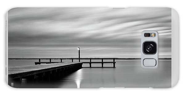 Calm Barnegat Bay New Jersey Black And White Galaxy Case