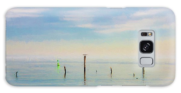 Galaxy Case featuring the photograph Calm Bayshore Morning N0 2 by Gary Slawsky