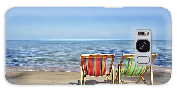 Galaxy Case featuring the painting Calm Beach by Harry Warrick