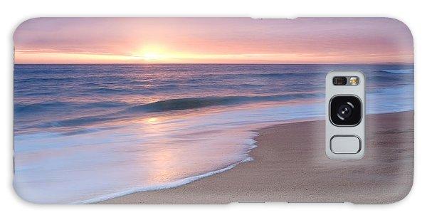Calm Beach Waves During Sunset Galaxy Case