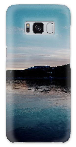 Calm Blue Lake Galaxy Case