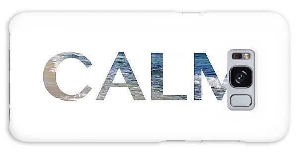 Calm Letter Art Galaxy Case by Saya Studios