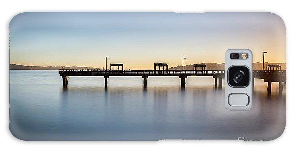 Calm Morning At The Pier Galaxy Case