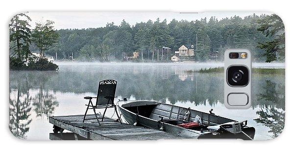 Calm Morning On Little Sebago Lake Galaxy Case