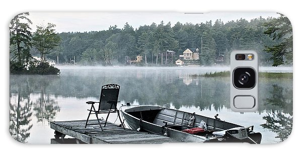 Calm Morning On Little Sebago Lake Galaxy Case