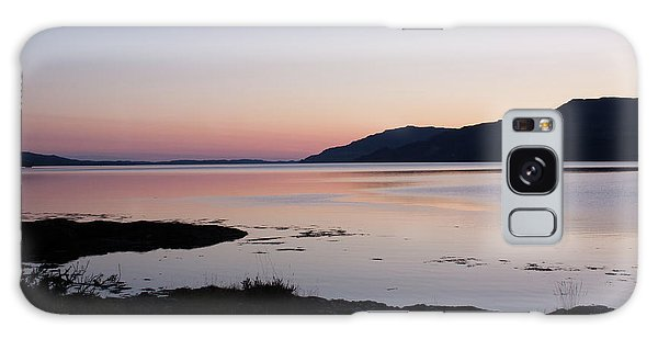 Calm Sunset Loch Scridain Galaxy Case