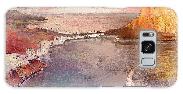 Calpe At Sunset Galaxy Case