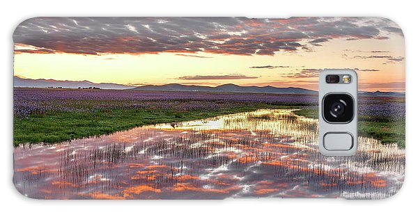 Camas Spring Sunrise Galaxy Case by Leland D Howard