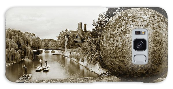 Cambridge Punting Sepia Galaxy Case by Eden Baed