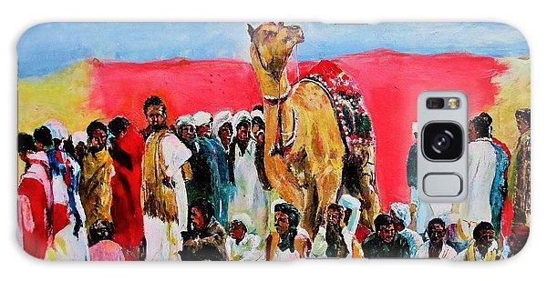 Camel Festival Galaxy Case by Khalid Saeed
