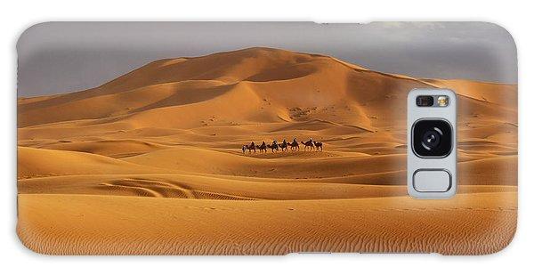 Galaxy Case featuring the photograph Camel Trek by Ramona Johnston