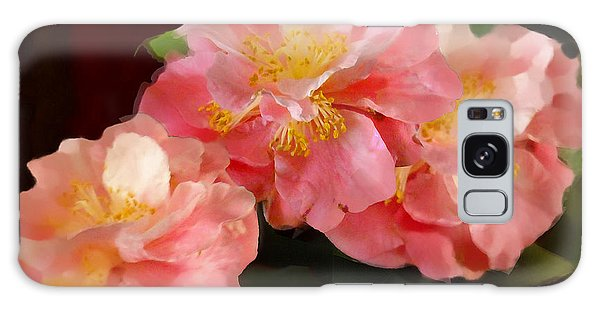 Camellias 1cmods1b Digital Painting Gulf Coast Florida Galaxy Case