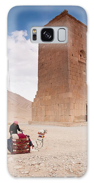 Galaxy Case - Camels And Camel Rider In Palmyra by Iordanis Pallikaras