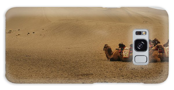 Camels Of The Silk Route Galaxy Case