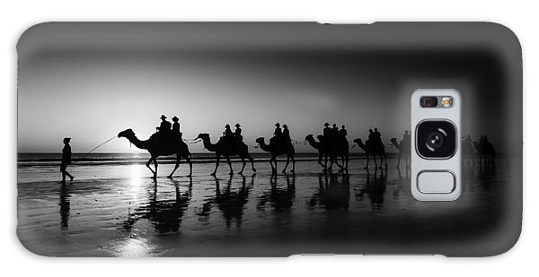 Camels On The Beach Galaxy Case