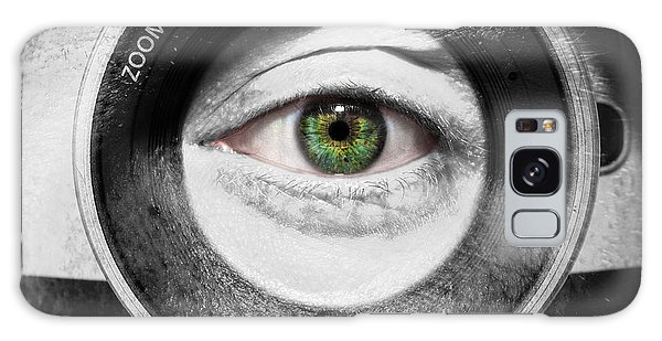 Camera Face Galaxy Case by Semmick Photo