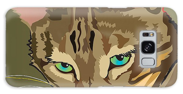 Camouflage Bengal Cat Square Galaxy Case