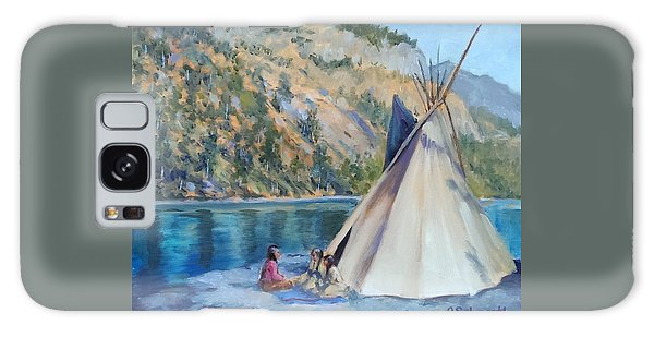Camp By The Lake Galaxy Case by Connie Schaertl